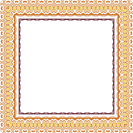plaiting: Ornamental Frame for photo with abstract color bright elements