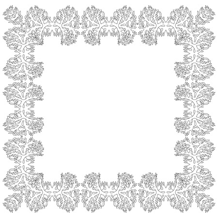 plaiting: Ornamental Frame for photo with abstract  black white elements