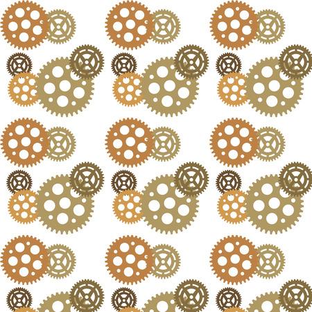 postmodern: Abstract background ornament geometric vintage seamless pattern Illustration