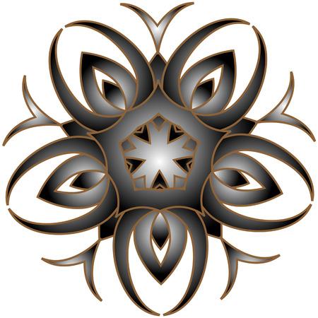 openwork: Silver openwork arabesque  floral design