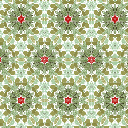 playroom: Bright spring and summer motifs for children clothes and decor. green and red colors, floral patterns.