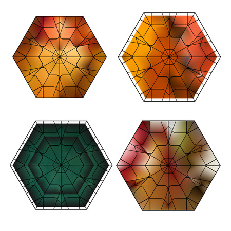 gemstone: set of gemstone pattern with cubes and pyramids