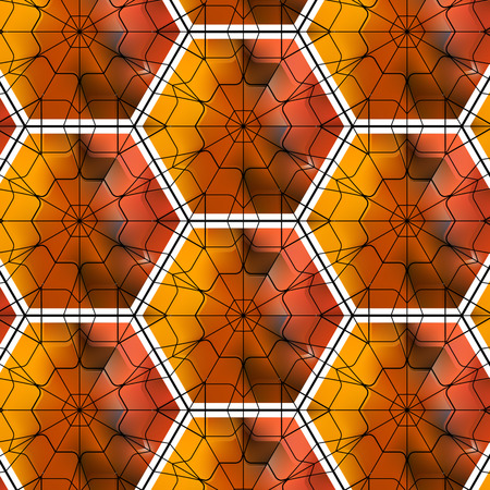 gemstone: Seamless gemstone pattern with cubes and pyramids Illustration