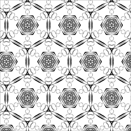 grey pattern: Primitive simple grey retro seamless pattern with lines and circles