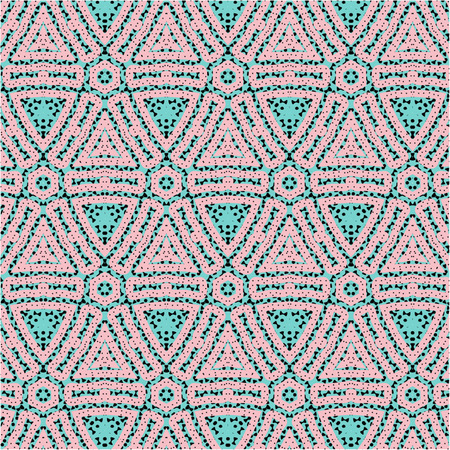 the fiftieth: Romantic pink symmetrical pattern to drape gifts for the holidays Illustration