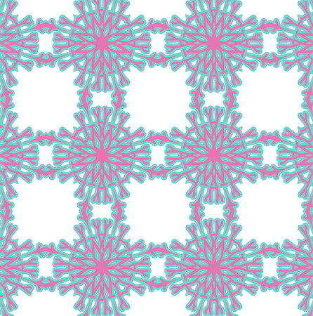 romantic: Romantic pink symmetrical pattern to drape gifts for the holidays Illustration