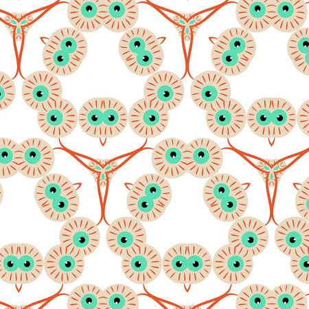 green eyes: Abstract seamless pattern with green eyes for Halloween