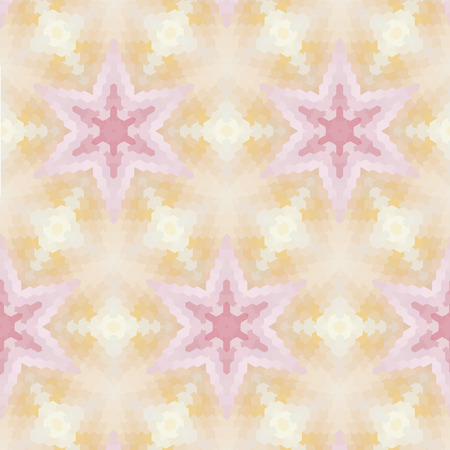glamorous: Glamorous pink geometric pattern with abstract ethnic ornament Illustration