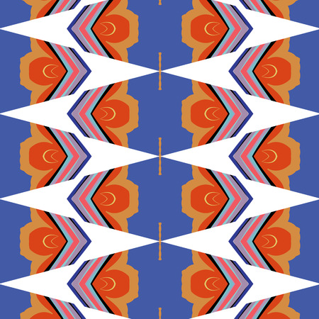 flashy: bright, attention-grabbing pattern in the sixties style, flashy color Illustration