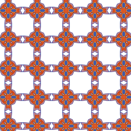 bright, attention-grabbing seamless pattern in the sixties style, flashy color Illustration