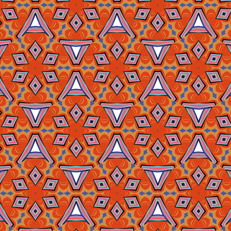 flashy: bright, attention-grabbing seamless pattern in the sixties style, flashy color Illustration