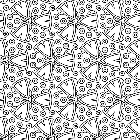 primitive: Primitive simple grey retro pattern with lines and circles