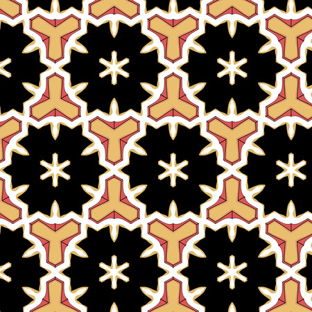 glamorous: Glamorous red black abstract pattern with abstract ethnic ornament