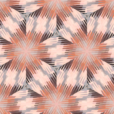 peculiar: Primitive simple grey, lilac pattern with lines and flowers