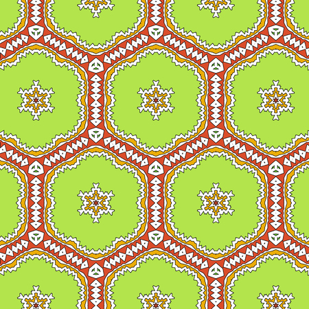 glamorous: Glamorous  floral pattern with abstract ethnic ornament