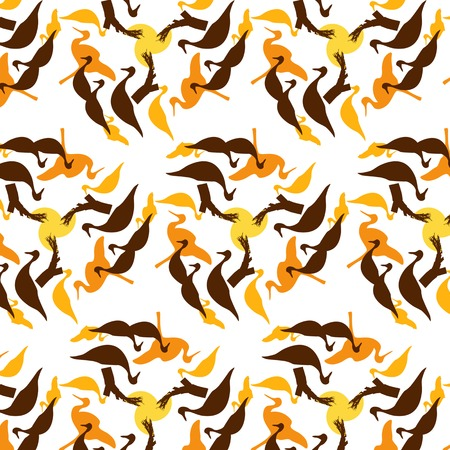 warmer: Joyful Sunny spring bright cheerful pattern with birds and trees