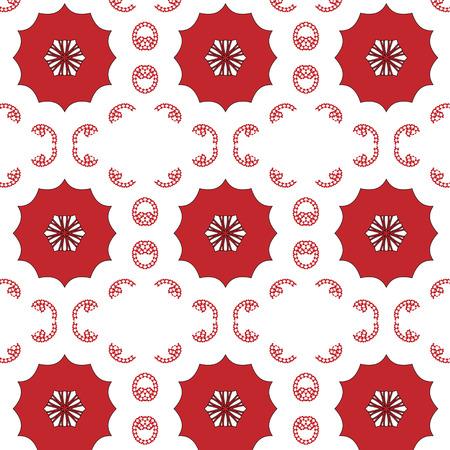 Semplice primitivo, modello rosso moderno con linee e fiori Archivio Fotografico - 54869127