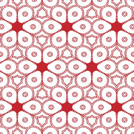 Semplice primitivo, modello rosso moderno con linee e fiori Archivio Fotografico - 54869146