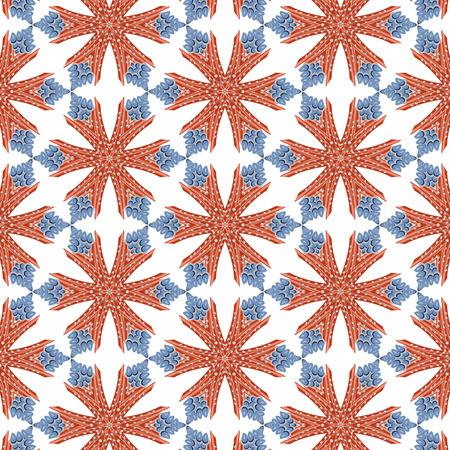 Primitive semplice schema rosso moderno con linee e fiori Archivio Fotografico - 54869172