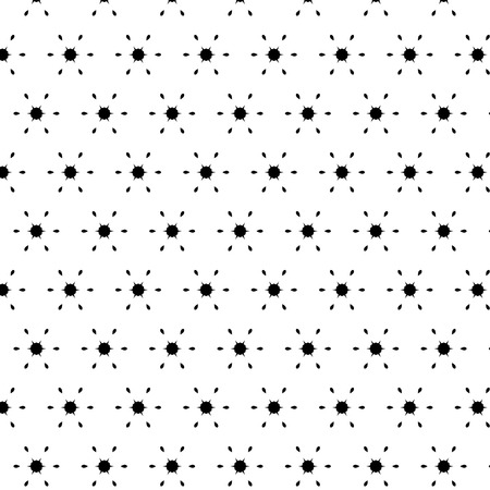 elementary: Black white pattern with modern abstract, elementary ornaments. Illustration
