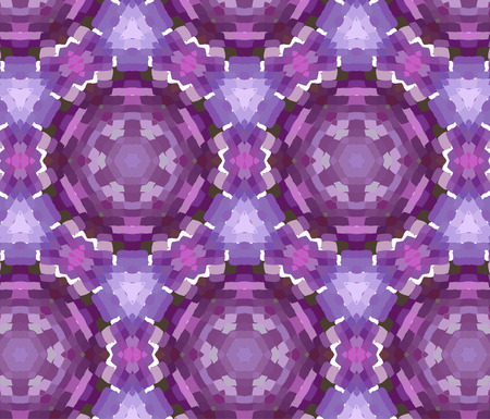 distinctive: Primitive simple purple, lilac modern pattern with rectangles and flowers
