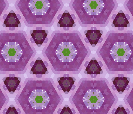 abstractly: Primitive simple purple, lilac modern pattern with rectangles and flowers