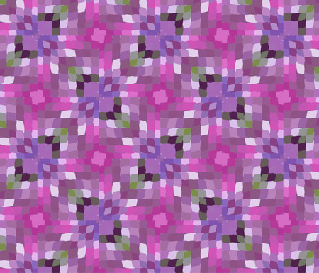 Primitive semplice, modello moderno lilla viola con rettangoli e fiori Archivio Fotografico - 61589936