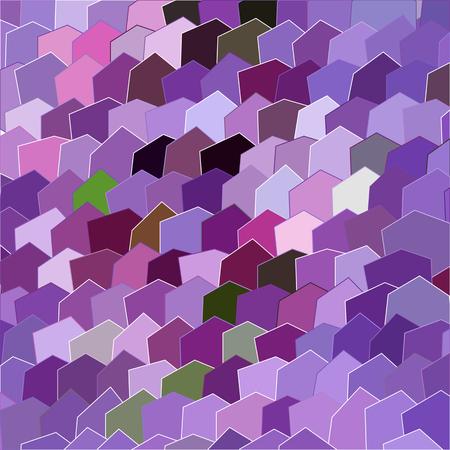 Primitive semplice, modello moderno lilla viola con rettangoli e fiori Archivio Fotografico - 61589935
