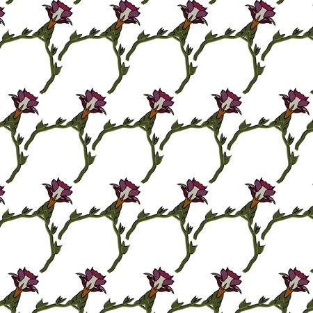 Village floral folk pattern of interwoven flowers and leaves. Vintage ethnic patterns.