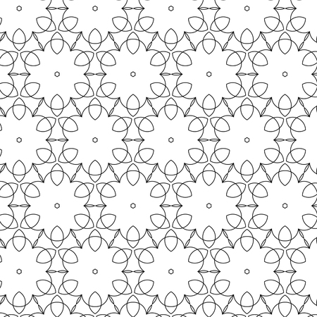 sacra: Primitive geometria sacra retro pattern with lines and circles. Black and white thin lines for designs. Illustration