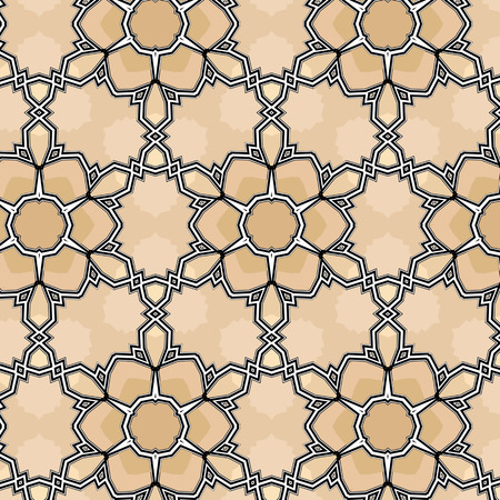 Village floral folk pattern of interwoven flowers and leaves. Vintage ethnic patterns. A chocolate brown color.
