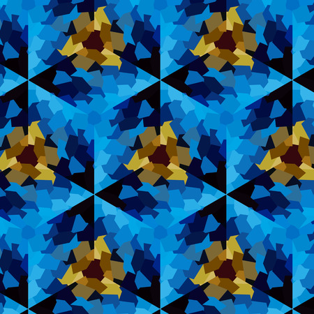 Abstract expressionism, fantastic blue semiprecious stone background