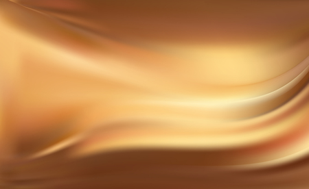 Gold silk background with some soft folds. Fiery flame