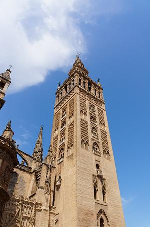 Historic buildings and monuments of Seville, Spain. Architectural details, stone facade. Catedral de Santa Maria de la Sede.