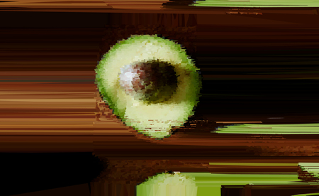 Abstract green avocado. Impressionism with fruit. Blur and  Abstract Still Life.