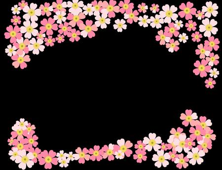 A romantic floral background. Flower. Tender Japanese daisies delicate color Illusztráció