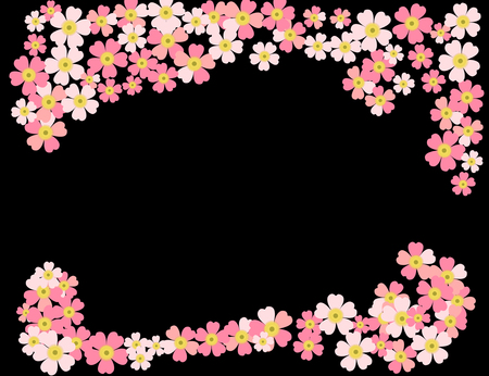 A romantic floral background. Flower. Tender Japanese daisies delicate color Vettoriali