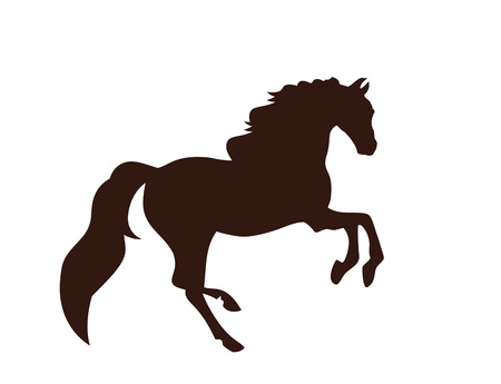 Black silhouette of a horse vector illustration