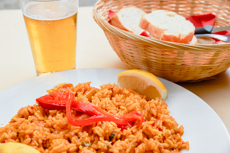 Italian typical dish of rice cooked according to tradition with spices and vegetables
