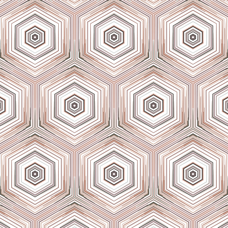 Constructive geometric pattern in shades of brown colors. Emotional design with development of prospects.  イラスト・ベクター素材