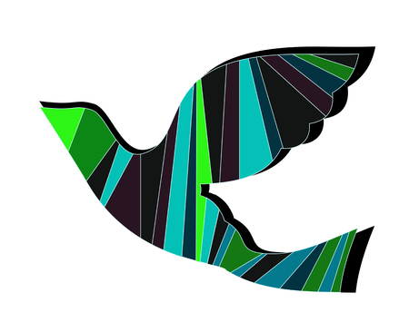 Colorful abstract neon shapes. Abstract Futuristic Wallpaper. Bird picture backgrounds