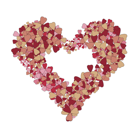 Precious red flower rose heart on background romantic Valentines day. Romantic and gentle abstract background.