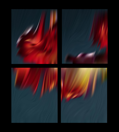 Red scarlet abstract background the flames of hell. The vortices of the Royal mantle. Illustration