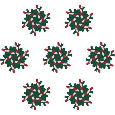 Motivo natalizio vintage in stile retrò anni '80.