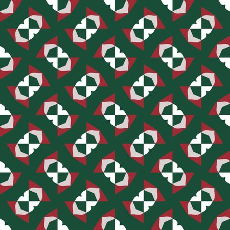 Vintage christmas pattern in retro 80s style. Textile fashionable retro design in the style of the eighties.