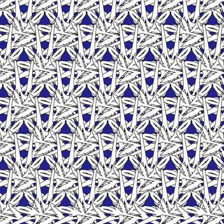 Abstract Christmas gorgeous festive snowflake pattern on blue background