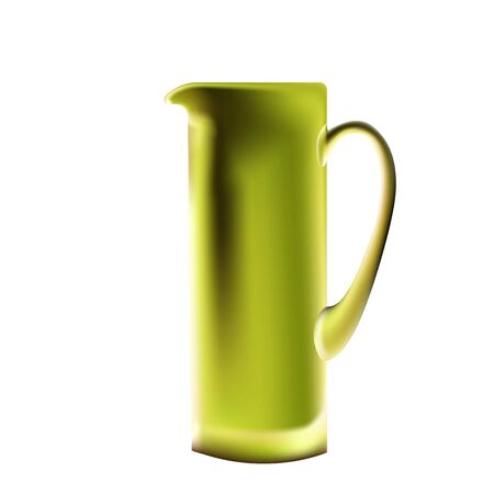 High transparent glass jug for juice, lemonade and all soft drinks