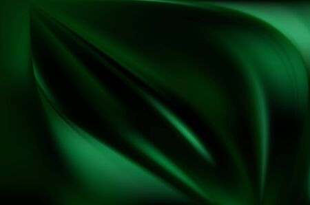 Silk emerald drape for Wallpaper. Green natural background with soft folds. Fresh green color.