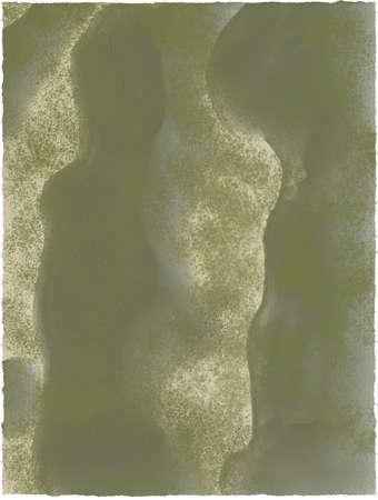 Watercolor dark green water and sand, sandy texture background. Abstract dark watercolor background. Standard-Bild