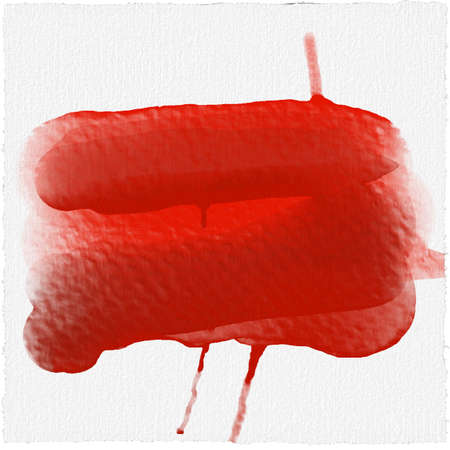 Red alcohol ink watercolor texture on white paper background. Liquid paint flow. ethereal effect red blood background, watercolor Stok Fotoğraf